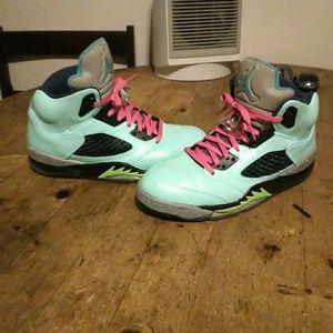 """Custom """"confettie """"Jordan 5's"""